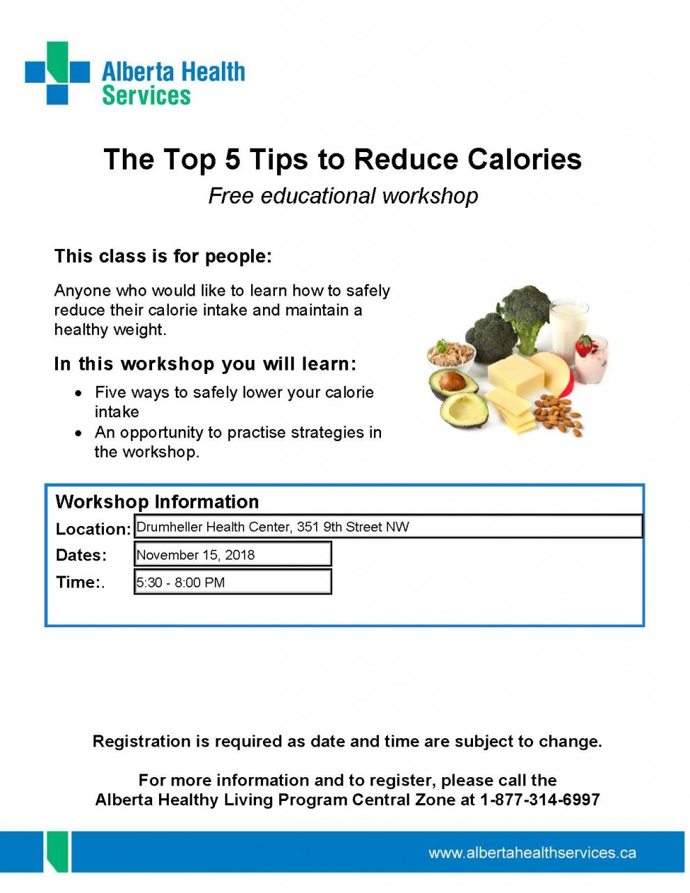 Drumheller----Nutrition-Top-Five-Tips-Nov-15-2018