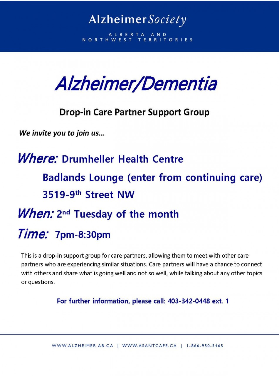 Drumheller-Care-Partner-Support-Group-Poster